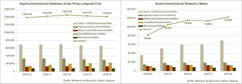 Entwicklung der Anzahl immatrikulierter Studenten im Zeitraum von 2009/10 bis 2013/14